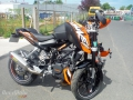 moto accidentee KTM DUKE 125