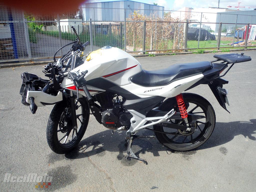 moto accident u00e9e honda cbf 125 cbf125 blanc