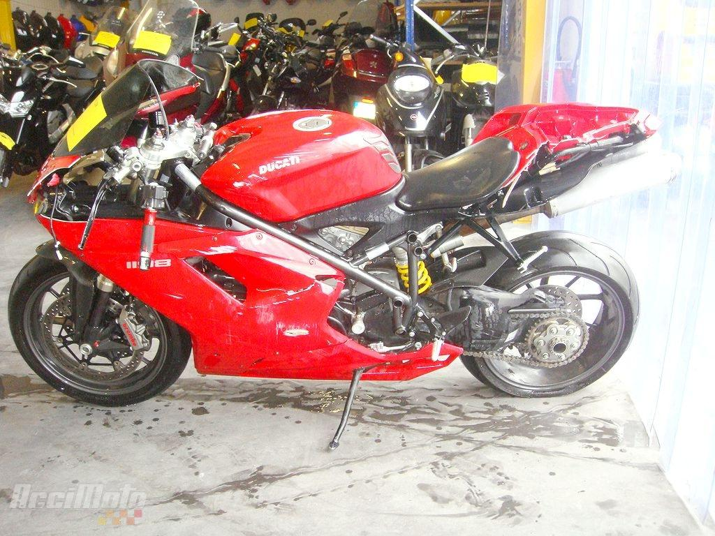 moto accident u00e9e ducati 1198 rouge