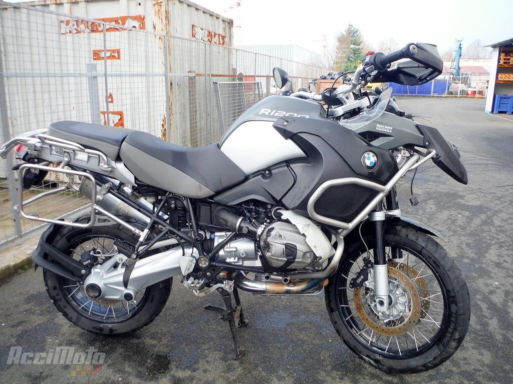 moto accident e bmw r1200gs r 1200 gs gris. Black Bedroom Furniture Sets. Home Design Ideas