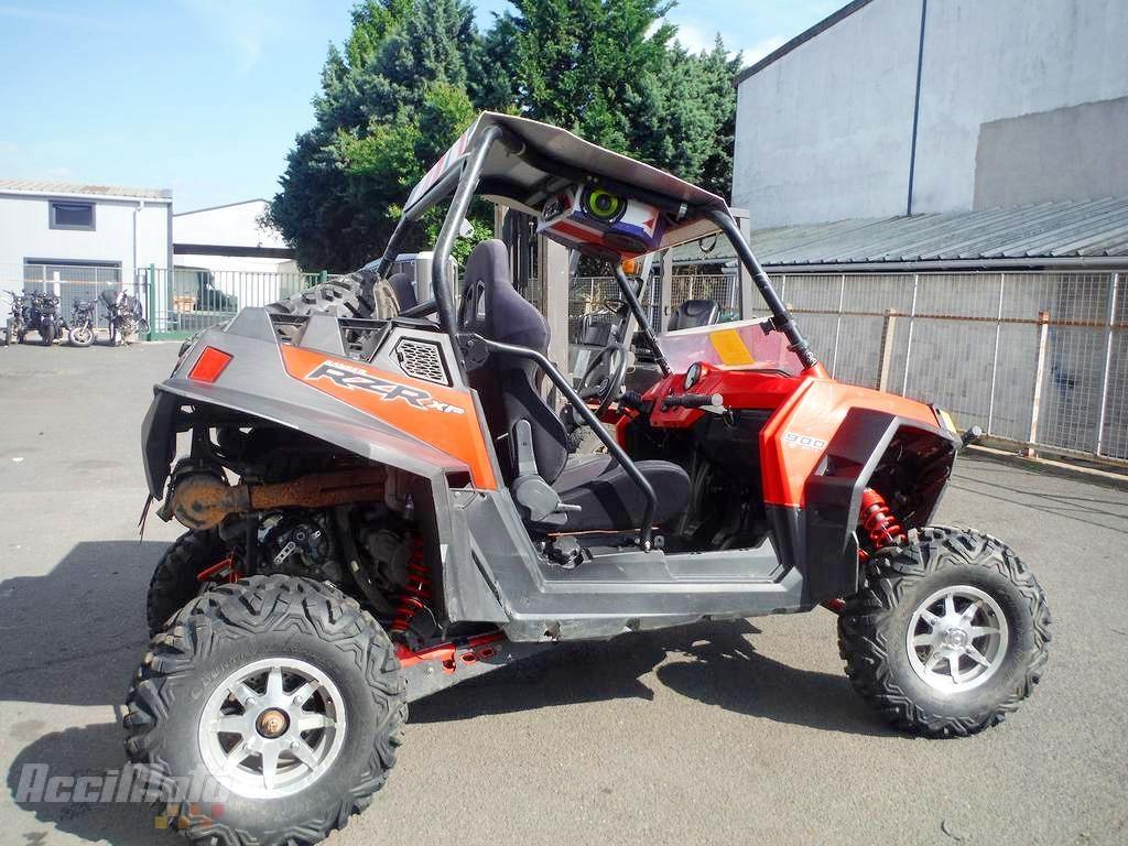 moto accident e polaris quad 900 rzr 900rzr rouge. Black Bedroom Furniture Sets. Home Design Ideas
